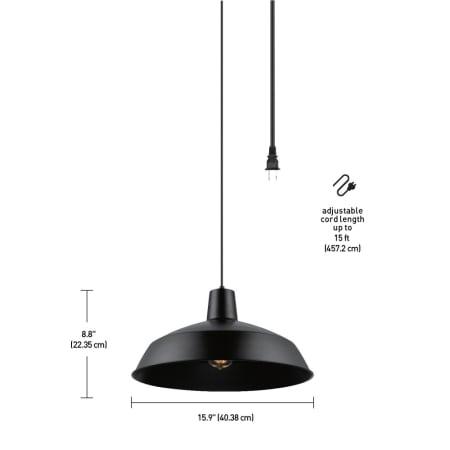 Globe Electric 65151 Matte Black Barn Light 1 Light Plug ...