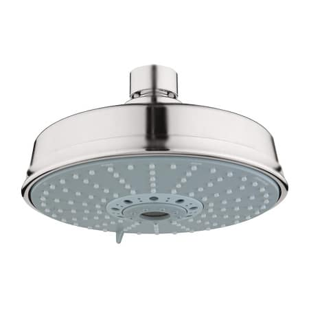 grohe 27130en0 brushed nickel rainshower rustic multi function shower head with dreamspray. Black Bedroom Furniture Sets. Home Design Ideas