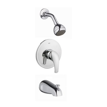 Grohe 35012001 Starlight Chrome Eurosmart Tub and Shower Valve Trim ...