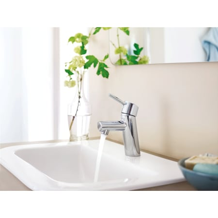 Grohe 34270en1 Brushed Nickel Concetto Single Handle Single Hole Bathroom Faucet With Silkmove