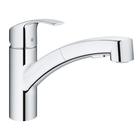 Grohe 30306000 Starlight Chrome Eurosmart Pull-Out Spray Kitchen ...