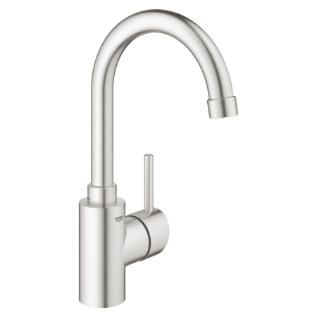 Grohe 31518dc0 Supersteel Concetto 1 5 Gpm Bar Faucet With Silkmove Faucetdirect Com