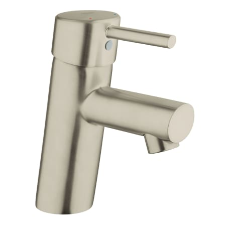Grohe 34271en1 Brushed Nickel Concetto New Bathroom Faucet With Silkmove Cartridge Less Drain