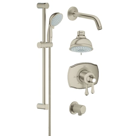 A Large Image Of The Grohe 35 053 Brushed Nickel