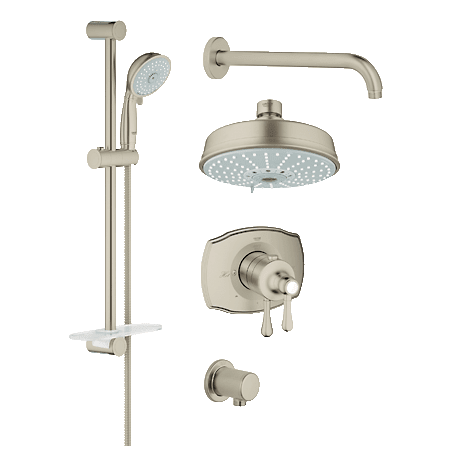 Grohe 35054EN0 Brushed Nickel GrohFlex Thermostatic Shower System ...