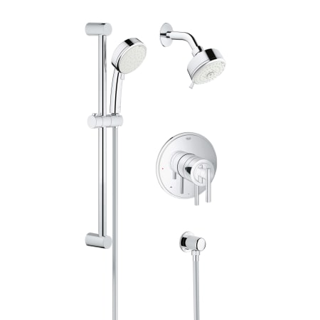 grohe 35055001 starlight chrome tempesta cosmopolitan shower trim package with multi function. Black Bedroom Furniture Sets. Home Design Ideas