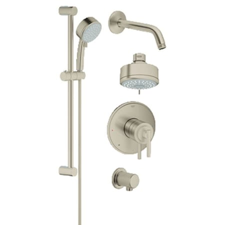 A Large Image Of The Grohe 35 055 Brushed Nickel