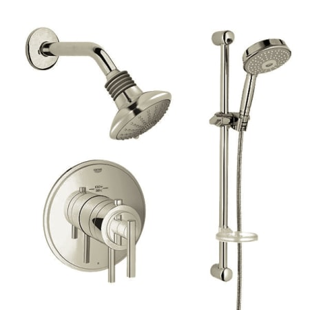 Brushed Nickel Timeless Thermostatic Shower System Multi Function Shower  Head, Hand Shower, Slide Bar U0026 Rough In Valve Included