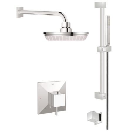 Grohe Gss Allure Dpb 03 000 Starlight Chrome Allure Brilliant Pressure Balanced Shower System
