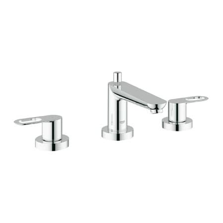Grohe 19593000 Starlight Chrome BauLoop Roman Tub Filler Faucet with ...
