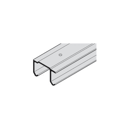 Hafele 407.11.012 Aluminum Pre Drilled Double Upper Track For Top Hung  Sliding Door