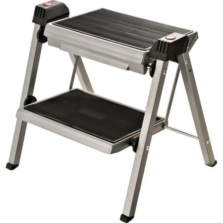 Hafele 505 04 210 Silver Black Stepfix Folding Step