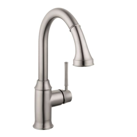 Hansgrohe 04215800 Steel Optik Talis C High-Arc Pull-Down Kitchen ...