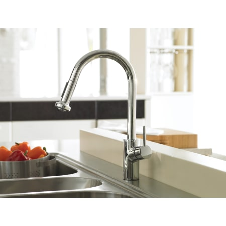 Hansgrohe 14877001 Chrome Talis S Pull Down Kitchen Faucet