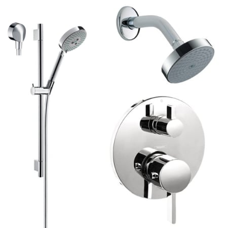 Hansgrohe HG-T201CR Chrome S Thermostatic Shower System with Volume ...
