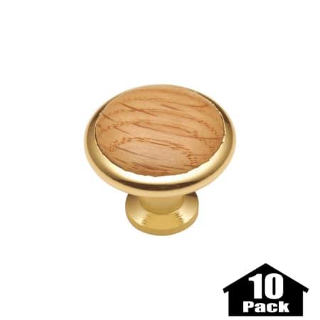 hickory hardware p427 oak 10pack oak tranquility 1 3 8 inch diameter
