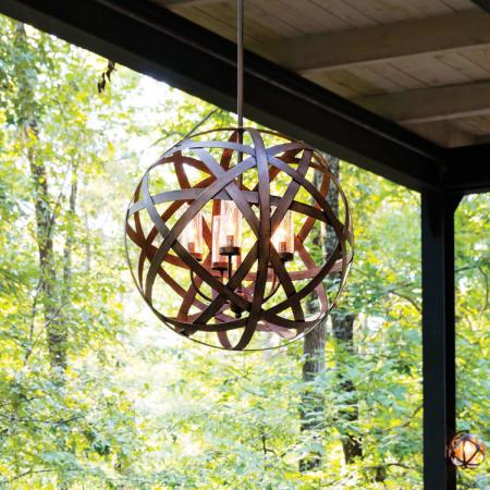 Hinkley Lighting 29705vi Vintage Iron Carson 5 Light 26 1