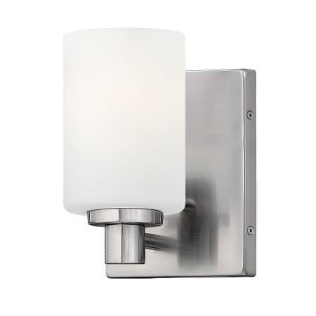 Hinkley lighting 54620bn brushed nickel 1 light bathroom for Hinkley bathroom sconces
