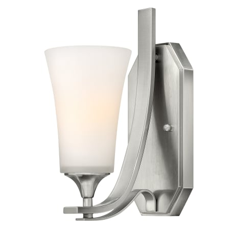 Hinkley lighting 4630bn brushed nickel 1 light width for Hinkley bathroom sconces