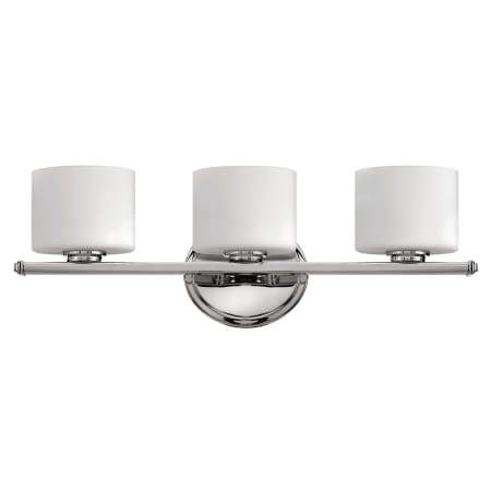 Hinkley lighting 5423cm chrome 3 light 21 width bathroom for Hinkley bathroom vanity lighting