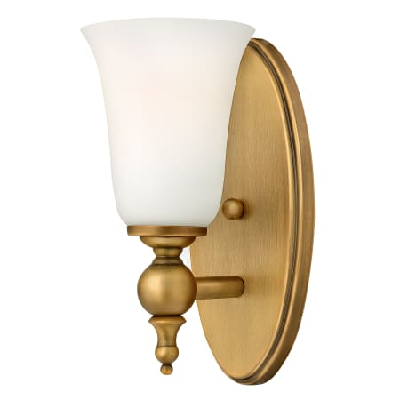 Hinkley lighting 5740br brushed bronze 1 light width bathroom sconce from the yorktown for Brushed bronze bathroom lighting
