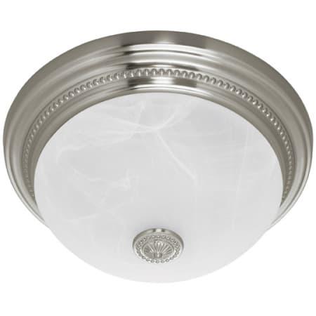 Hunter 81001 Brushed Nickel Two Light Bathroom Fan / Light ...
