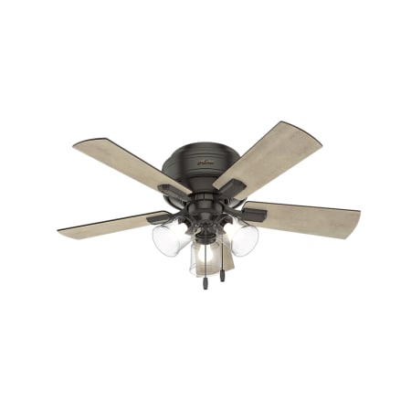 Hunter 52153 Noble Bronze Crestfield 42 Quot 5 Blade Hugger Indoor Ceiling Fan With Blades And Led
