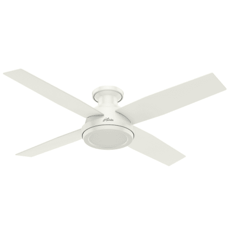 Hunter 59248 fresh white 52 4 blade indoor ceiling fan with remote hunter dempsey 52 low profile aloadofball Image collections