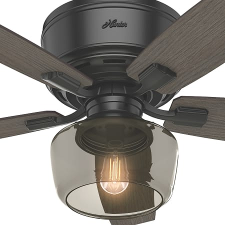 Hunter 53393 Matte Black 52 Quot 5 Blade Led Ceiling Fan With