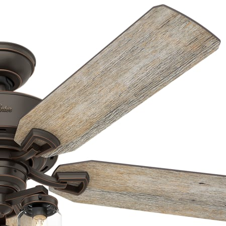 Hunter 54201 Onyx Bengal Devon Park 52 Quot 5 Blade Indoor Ceiling Fan With Blades Remote Control