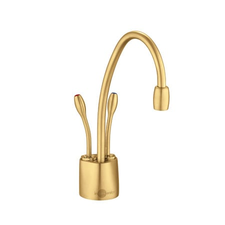 InSinkErator F HC1100SN Satin Nickel Indulge Instant Hot Water Dispenser,  Double Handle Hot And Cold With 5 Year In Home Warranty   Less Tank    Faucet.com