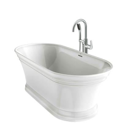 free standing jetted soaking tub. Jacuzzi LYB6731BCXXXX LYB6731BCXXXXW White  Chrome Tub Filler Lyndsay 67 Free