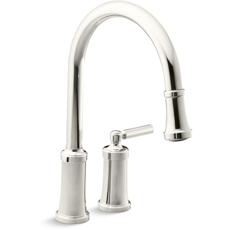 Kallista P25000-00-AD Nickel Silver Pull Down Kitchen Faucet with ...
