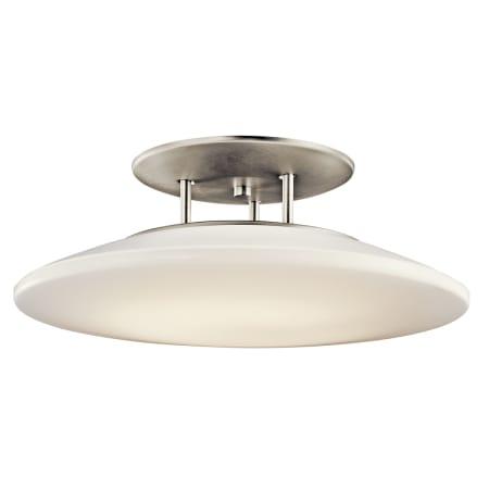 Kichler 10898ni Brushed Nickel Ara 1 Light Semi Flush