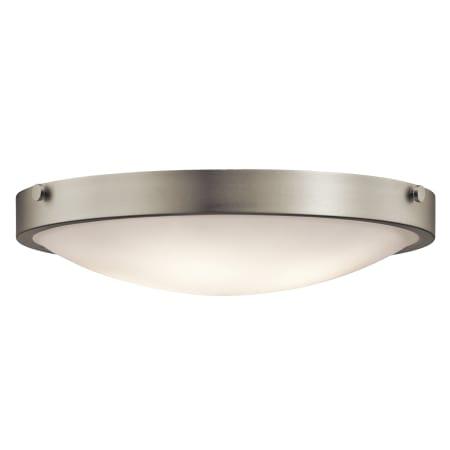 Kichler 42276ni brushed nickel lytham 4 light flush mount indoor kichler 42276 aloadofball Choice Image