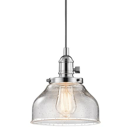 Kichler 43850ch Chrome Avery 1 Light Pendant