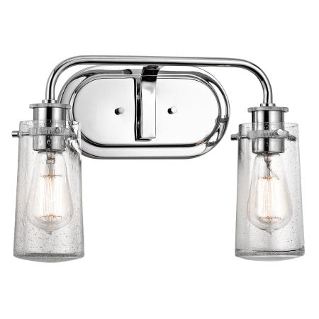 Kichler Braelyn Bathroom Light Buildcom - Chrome 2 light bathroom fixture