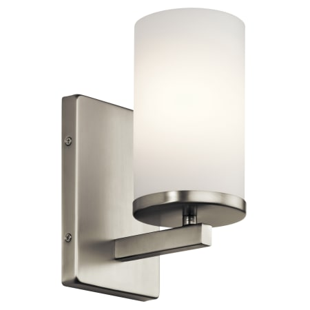 Kichler 45495ni Brushed Nickel Crosby 1 Light Bathroom Sconce