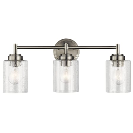Kichler 45886ni Brushed Nickel Winslow 3 Light 21 1 2 Quot Wide Bathroom Vanity Light With Seedy