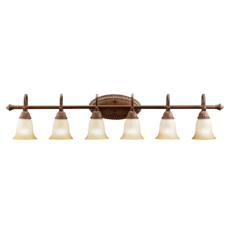 6 bulb bathroom light fixture kichler 5218tzg tannery bronze with gold larissa 48 quot wide 21859