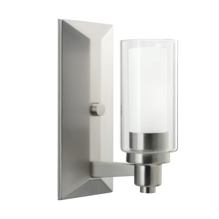 kichler 6144ni brushed nickel one light up lighting wall sconce from