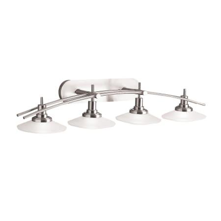 Kichler Track Lighting Kichler 6464ni brushed nickel structures 4 light 40 wide vanity kichler 6464 audiocablefo