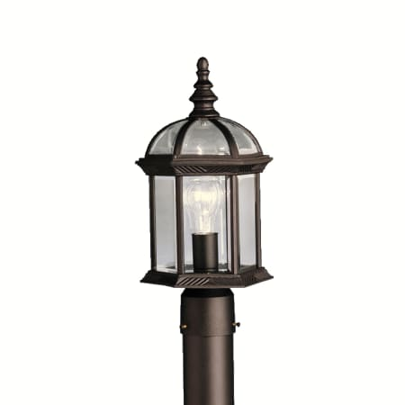 Kichler 9935bkl16 black barrie single light 16 tall led outdoor kichler 9935l16 aloadofball Gallery