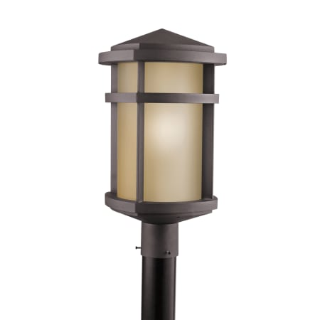 Kichler 9967az craftsman mission outdoor post light lantern kichler 9967 aloadofball Gallery