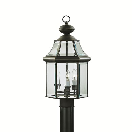 Kichler 9985oz olde bronze 3 light post light from the embassy row kichler 9985 mozeypictures Image collections