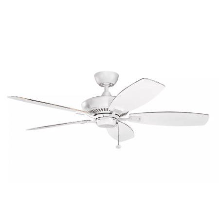 Kichler 300117mwh Matte White Canfield 52 Quot 5 Blade Ceiling