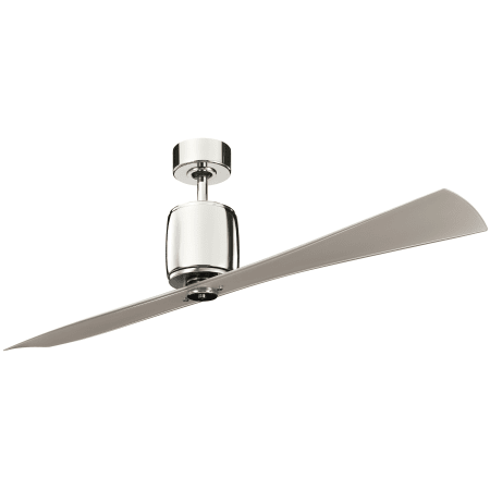 Kichler 300160pn polished nickel with clear champagne blades kichler 300160pn mozeypictures Choice Image