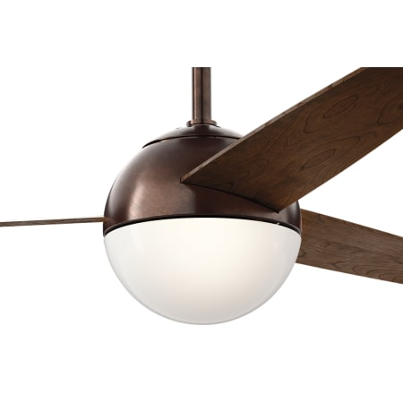 Kichler 300710obb Oil Brushed Bronze Bisc 56 Quot Ceiling Fan With Blades Led Light Kit And Wall