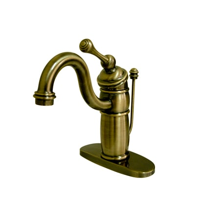 Kingston Brass Kb1403bl Antique Brass Victorian Bathroom Faucet With Metal Lever Handle