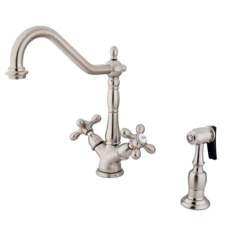 Heritage Double Handle Single Hole Kitchen Faucet